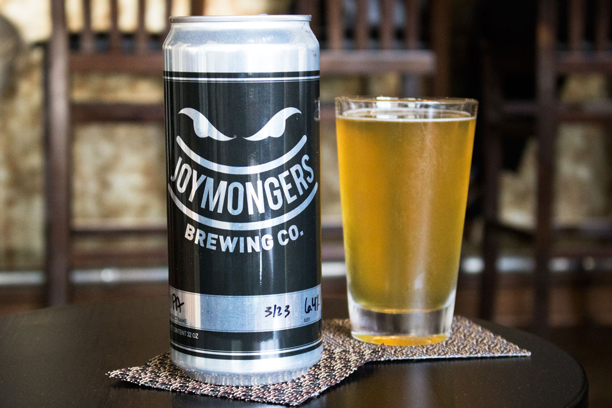 Joymongers Brewing Co. crowler at Undercurrent Restaurant in Downtown Greensboro NC
