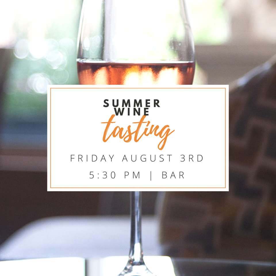 Summer Wine Tasting at Undercurrent Restaurant